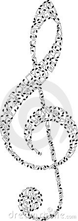 Clef from music notes