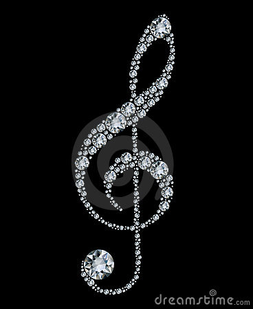 Clef triple de diamant