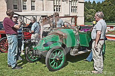 Clement Bayard car dated to 1914 at Brodie Castle. Editorial Photography