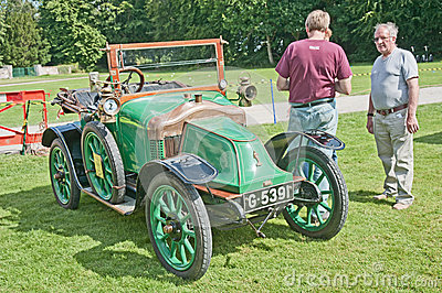 Clement Bayard car dated to 1914 at Brodie Castle. Editorial Photo