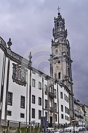 Clerigos church in Oporto with tower