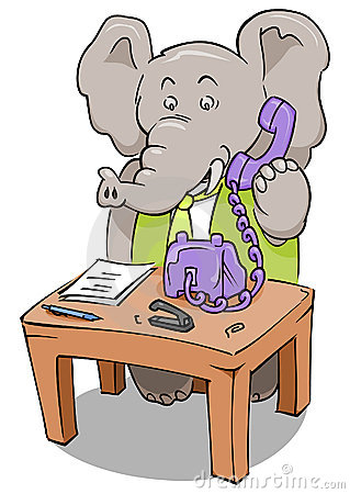 Clerk Phone Elephant