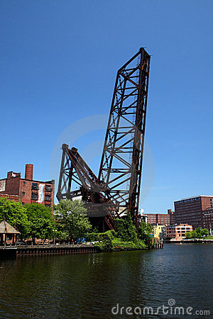 Cleveland Ohio Raised Railroad Bridge