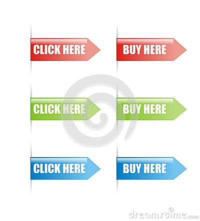 Click and buy here sign vector