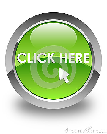 Free Click Here Glossy Green Round Button Royalty Free Stock Photos - 88076558