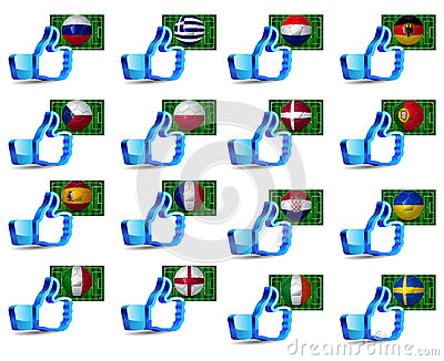 Click like Icon Ball Europe soccer you re like the