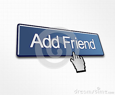 Clicked Add Friend Button Royalty Free Stock Photos - Image: 24844408