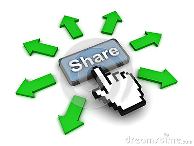 Clicking share button