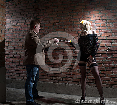 Client and prostitute