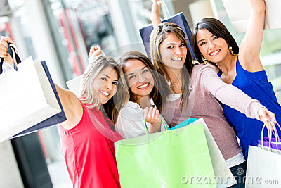 Clients Féminins Excited Image stock - Image: 28143961