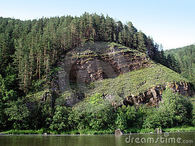 Cliff above the river