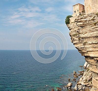 Cliff of Bonifacio in Corsica