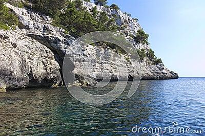 Cliff on the coast of Menorca