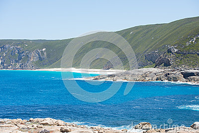Beautiful panoramic view of cliff coast of Torndirrup National Park ...