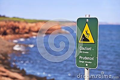Cliff Danger Sign