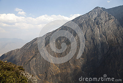 Cliff Face in Tiger Leaping Gorge