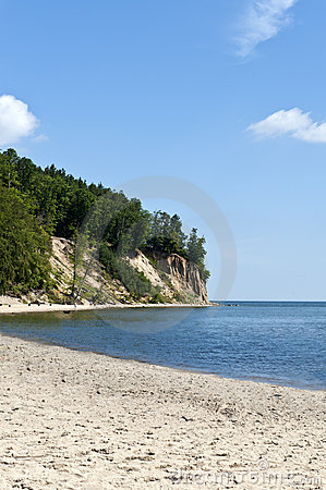 Cliff on the Gdynia Orlowo seaside