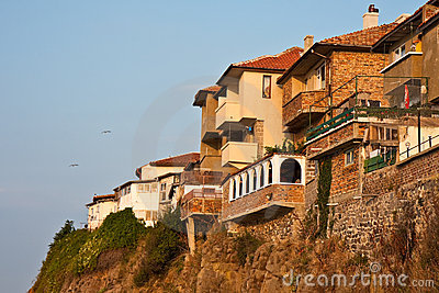 Cliff Houses at Sunset