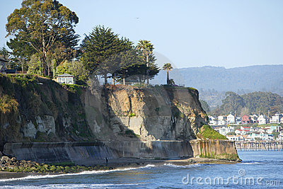 A cliff on the ocean in Capitola California