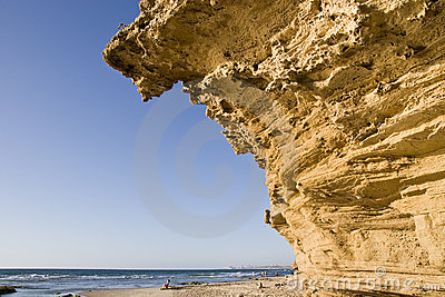 Cliff over the coast