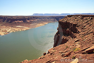 Cliff view of Colorado River