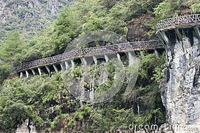 Cliff Walkway, Yangtze River China, Travel Scene