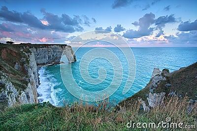 Cliffs at Alabaster coast in Atlantic ocean