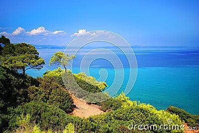 Cliffs along Aegean Sea