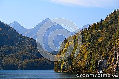 Cliffs on Alpsee in Bavaria