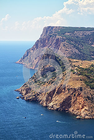 Cliffs on Balaklava coastline