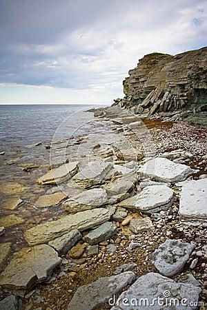 Cliffs on a Baltic sea shore
