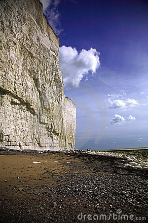The cliffs at Birling Gap beach