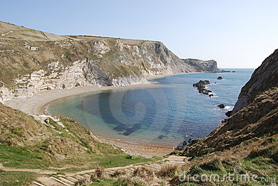 Cliffs and blue sea in South England