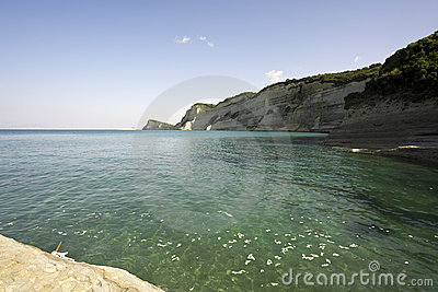 Cliffs at Cape Drastis, Corfu, Greece