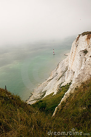 Cliffs chalk coast sea Beachy Head