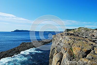 Cliffs on coastline
