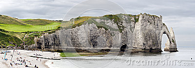 Cliffs of Etretat Panorama