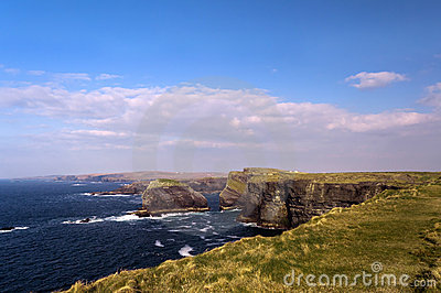 Cliffs in Kilkee , Ireland