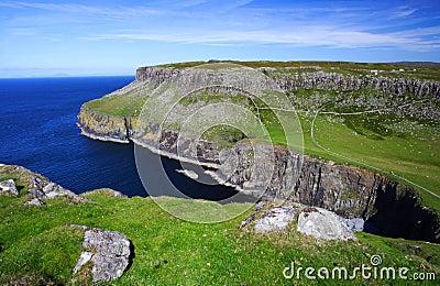 Cliffs and landscape, scotland