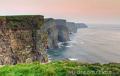 Cliffs of Moher at dusk