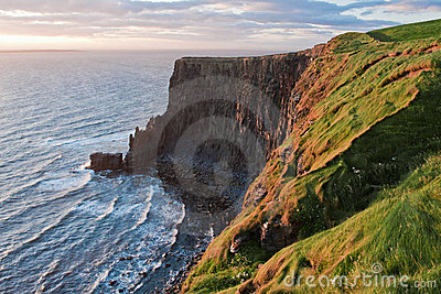 Cliffs of Moher in golden light