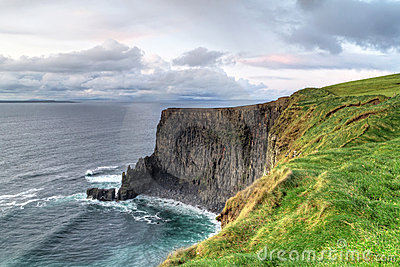 Cliffs of moher at sunsetin in west Ireland