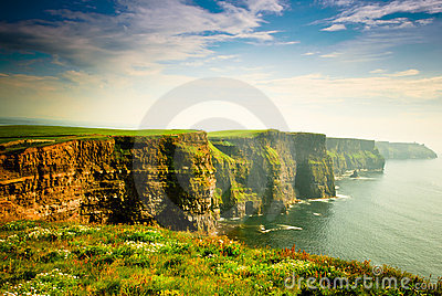 Cliffs Of Moher under cloudy sky, Ireland
