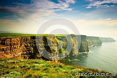 Cliffs Of Moher under cloudy sky, Ireland