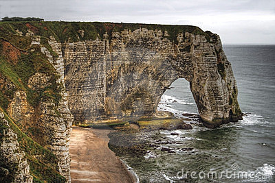 Cliffs and a natural arch