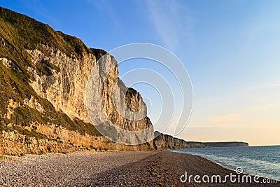 Cliffs near Etretat and Fecamp, Normandy, France