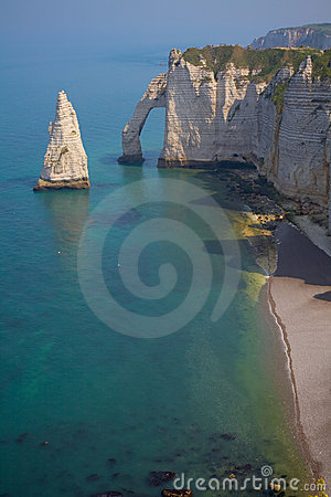 Cliffs near Etretat, France, Normandy