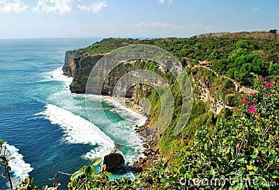 Cliffs near Uluwatu Temple on Bali, Indonesia
