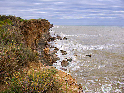 Cliffs on rocky coastline