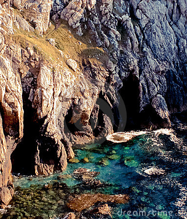 Cliffs on rocky coastline